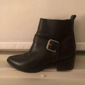 Allsaints black leather boots
